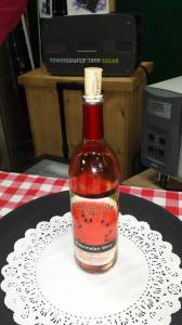 Watermelon Wine produced from Bim McGinnis Melons!